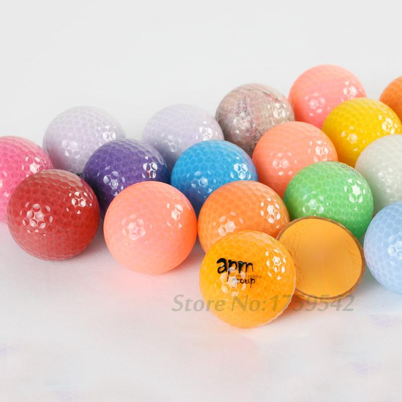 New Golf Practice 2 Layer/Two Piece Ball Sports Double Game Distance Plating Crystal Ball Mixing Competition Promote Golf Balls