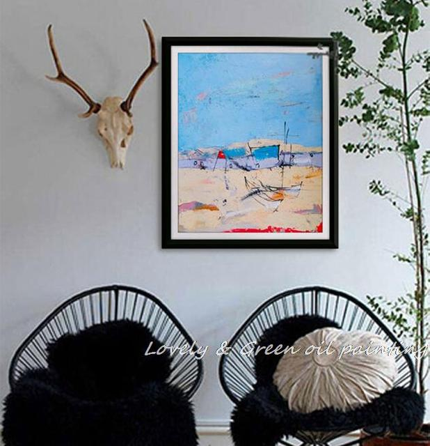 Free Shipping 100% Hand-painted Canvas Wall Art Abstract Landscape Oil Painting Home Decoration Modern Art Wall Picture 50X60CM