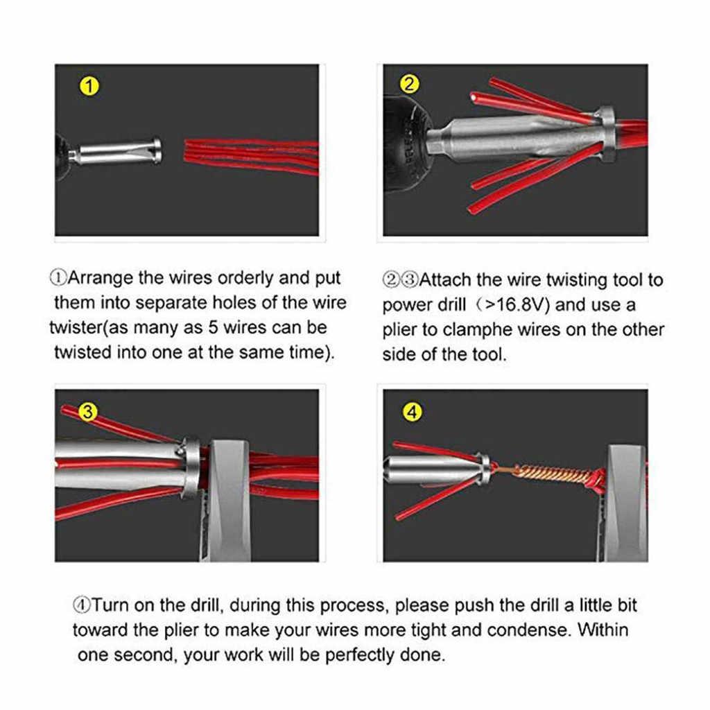 5-hole سلك كهربائي أداة سلك متجرد خط كابل جهاز عالمي التلقائي التواء سلك تجريد مضاعفة موصل
