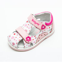 New Good 1pair Baby Girl Genuine Leather Orthopedic Children Sandals Arch Support Shoes Kids Soft Sole