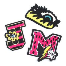 10pcs/lot Large Embroidery Patches Towels Letters Skull Eyes Applique Clothes Shoes Hats DIY