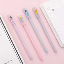 4pcs/lot Kawaii Silicone Lucky Fish Gel Pen 0.5MM Black Ink Gift Stationery School Office Supply