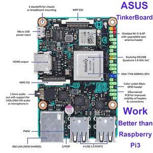 Image 3 - ASUS SBC Tinker board RK3288 SoC 1.8GHz رباعية النواة وحدة المعالجة المركزية ، 600MHz Mali T764 وحدة معالجة الرسومات ، 2GB LPDDR3 المفكر المجلس/tinkerboard