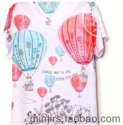Los niños ropa de bebé camiseta de manga corta impresión de la historieta del muchacho y de la muchacha t shirts de aire Caliente globo de color personalizado 55