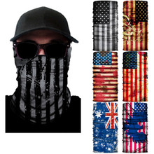 все цены на Magic scarf seamless outdoor moisture absorption perspiration ever ride digital changed flag collar head scarf faces онлайн