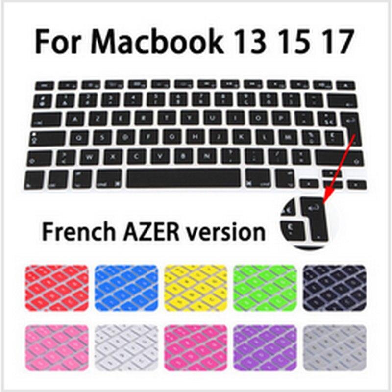 Azert Layout Frankrijk Alfabet Siliconen Waterdicht Toetsenbord Protector Fit Voor Apple Macbook Air 13 Pro Retina 13 15 17 Kwaliteit En Kwantiteit Verzekerd