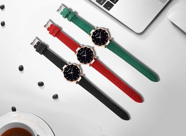 2019 Luxury Brand Gogoey Women Watches Personality romantic starry sky Wrist Watch Rhinestone Design Ladies Clock 4