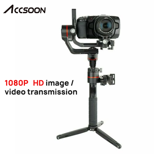 Accsoon A1-PRO 3-Axis Handheld Gimbal Stabilizzatore per DSLR Canon Telecamere di Carico 3.6KG Cine Eye 1080P Senza Fili immagine Transmissing