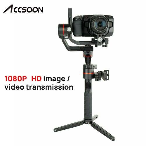 Estabilizador cardán portátil Accsoon A1-PRO de 3 ejes para cámaras DSLR Canon cargando 3,6 KG Cine Eye 1080P inalámbrico imagen de Transmissing