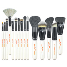 Professional 15pcs/set Women Facial Makeup Brushes Wooden Handle Facial Cosmetic Makeup Brushes Tool J1501M-W