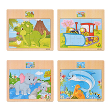 Cartoon Puzzle Jigsaw Early Education Wooden Toys For Kids Animal Traffic Cognition Puzzles Intelligence Toy For Children цены