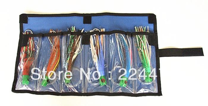 Livraison gratuite-9.5-10.5 pouce 3 taille pieuvre jupe jeu leurres thon leurres pêche à la traîne attirail souple appât PP tête souple avec crochet