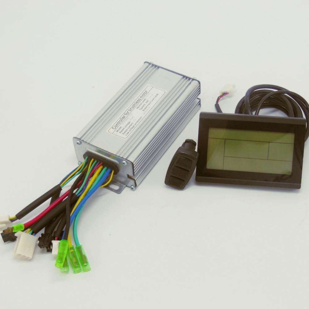 36V 48V 500W 25Amax Brushless DC Motor Controller Ebike LCD3 KUNTENG LCD Controller KT LCD3 Display
