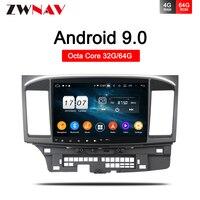 10.2 Android 9.0 Car GPS dvd Player for Mitsubishi Lancer 10 EVO with 4+32Octa Core Auto Stereo Navi Radio Multimedia head unit