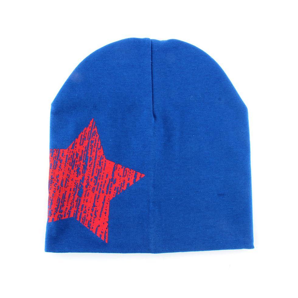 Baby Hat Kid Toddler Cute Stars Printed Hat Soft Winter Warm Cotton Girl Boy Beanie Cap