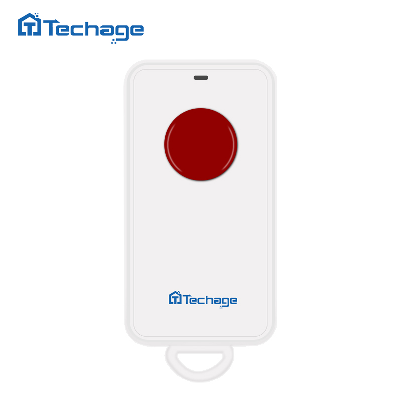 Techage One Key Emergency SOS Alarm Button 433MHZ Wireless Panic Button for S1 S6 Home Security Alarm System