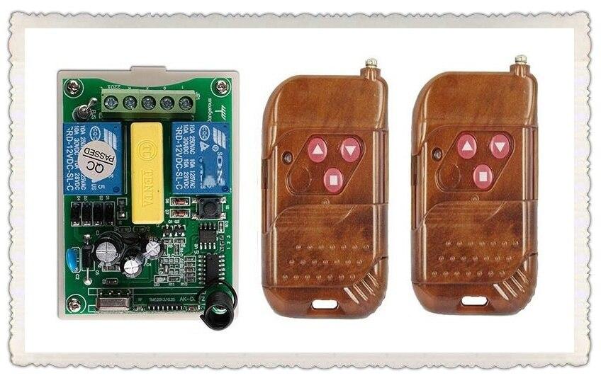 AC220V 2CH wireless remote control Motor Positive &negative switch system 2X Transmitter +1X Receiver relay smart house z-wave the positive side of negative enterprise