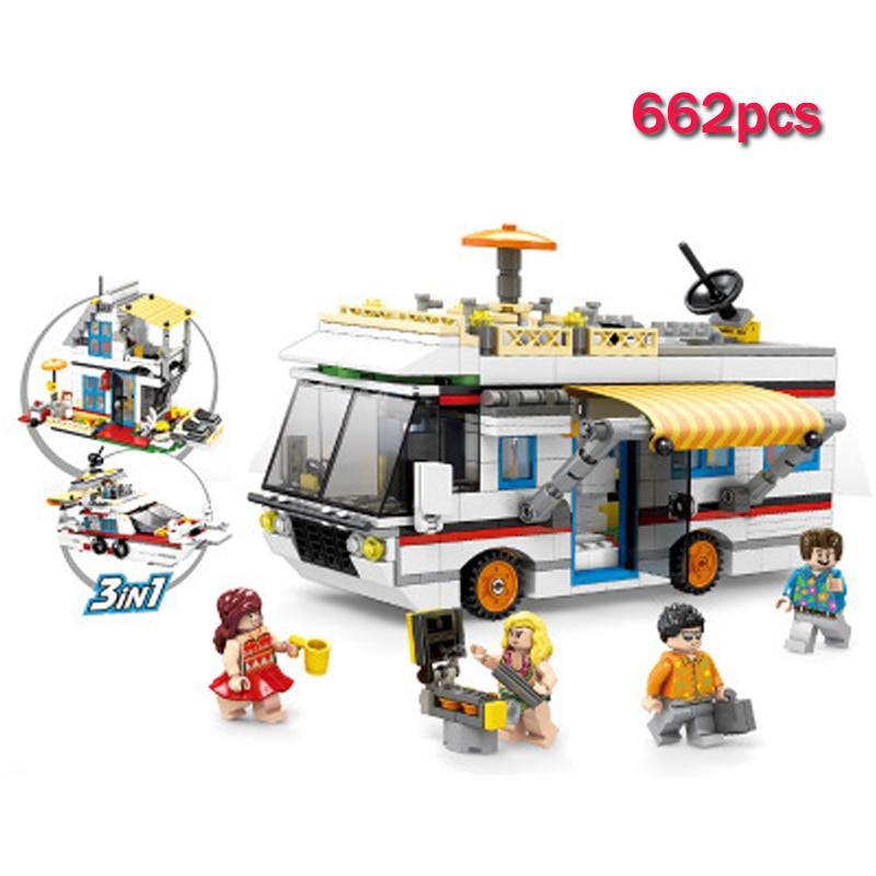 LWKO kompatybilny Legoe miasta limuzyną Camping samochodów ciężarowych dom model łodzi klocki klocki dla dzieci zabawki dla dzieci prezent w Klocki od Zabawki i hobby na AliExpress - 11.11_Double 11Singles' Day 1