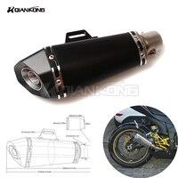 36 51 мм Универсальный мотоцикл глушитель Moto Escape муфельные трубы для Yamaha YZF600 R1 R6 R6S США Версия XJ6 диверсии