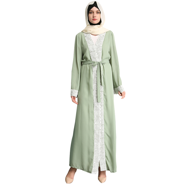 Babalet Elegante Modesto Musulmán Islámico de Dubai Abaya Jilbab ...