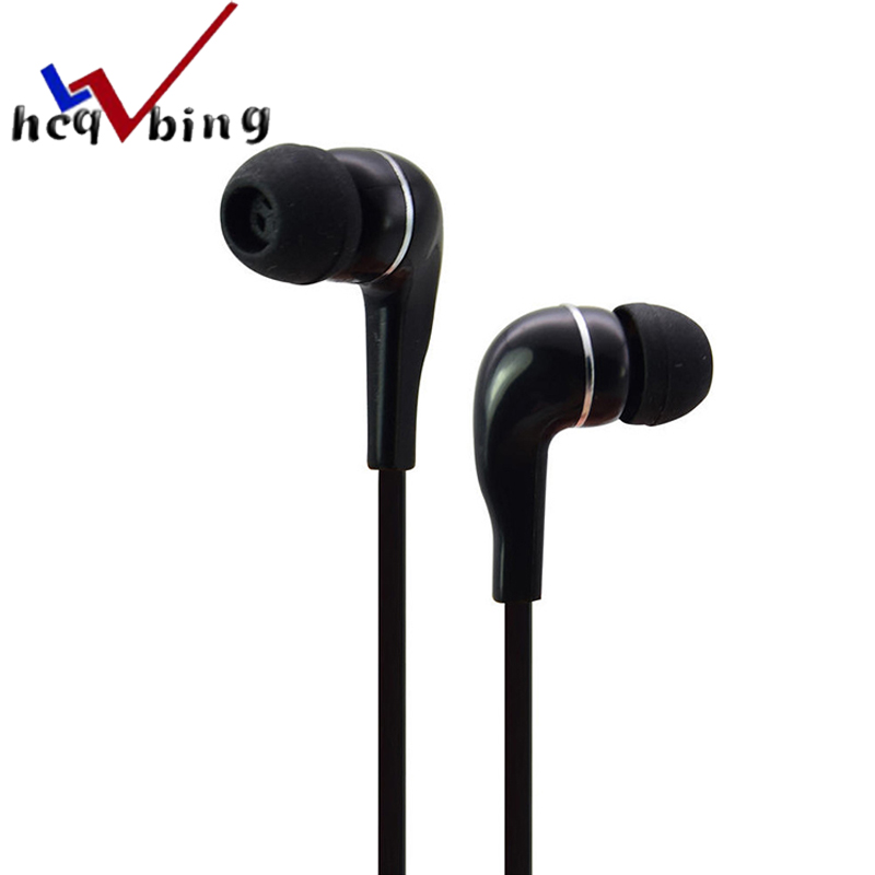 HCQWBING Universal wired earphone Flat In Ear Mp3 Mp4 gift candy Silicone earphones for Earpods Airpods Android Mobile Phone