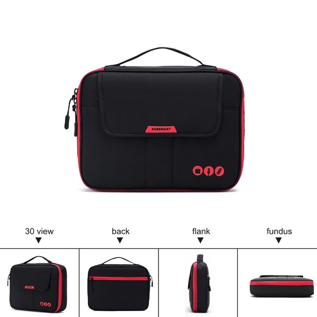BAGSMART Travel Bags for Electronics Acessories Business Trip Packing Organizer Bags for Data Line Charger Fit in Pad Kindle