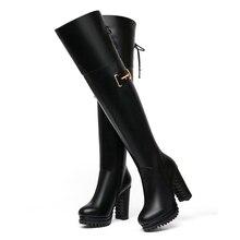 Universe Women's Boots Winter Autumn Super High Heels with Platform E327