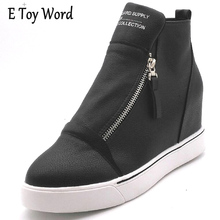 E JUGUETE PALABRA Caliente-Venta de 2017 Mujeres Del Verano Zapatos de Cuero Genuino moda de Encaje Hasta Las Cuñas Casuales Zapatos de Las Mujeres Botines de Cuero de Vaca zapatos