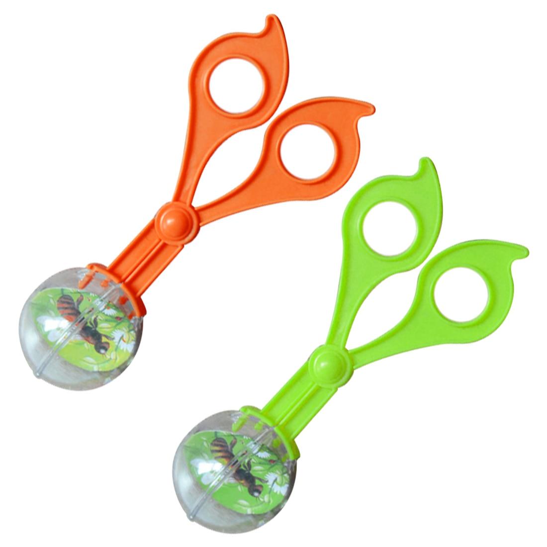 1pc Plastic Bug Insect Catcher Scissors Tongs Tweezers For Kids Children Toy Handy Tool