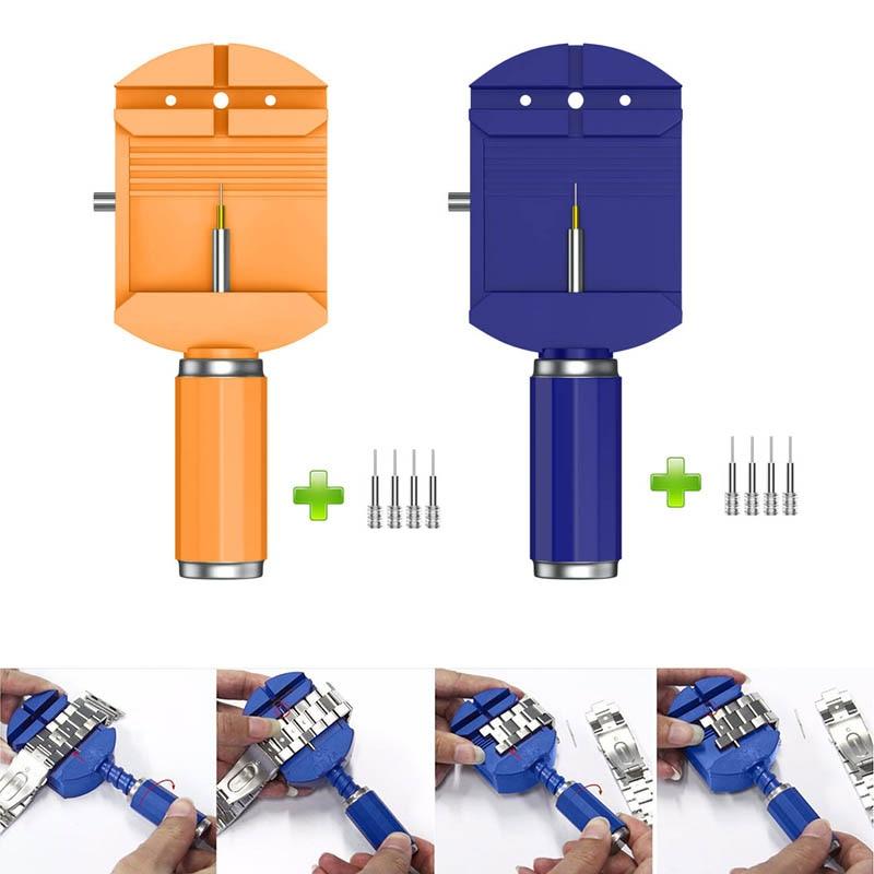 Watch Band Spring Bars Strap Link Pins Remover Adjuster Opener Repair Tools Kit+4 Pins LL@17