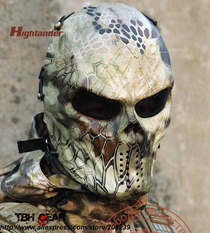 sku12050536 Original Warchief M06 Cool Airsoft Mask In Newest Kryptek Typhon/highlander Paintball Mask Full Face Back To Search Resultshome