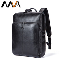 MVA Laptop Backpack Large Capacity Backpack Student College Backpacks Genuine Leather Men Backpacks Travel Daypack Mochila