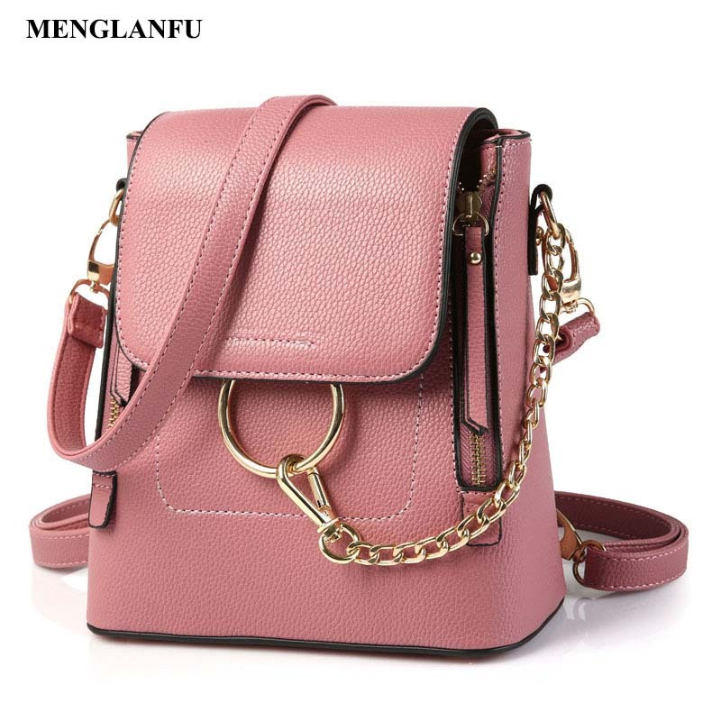 High quality PU leather Backpacks for women Travel Back pack Black School Shoulder bags Teenage girls college student casual bag 2017 new high quality shoulders bag pu leather women backpack casual school bags for teenagers girls travel backpacks