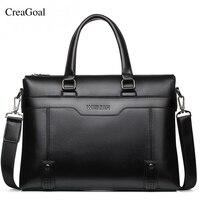 2018 Fashion Brand Business Men Briefcases Bag PU Leather Handbag Laptop Bag Casual Vintage Man Bag