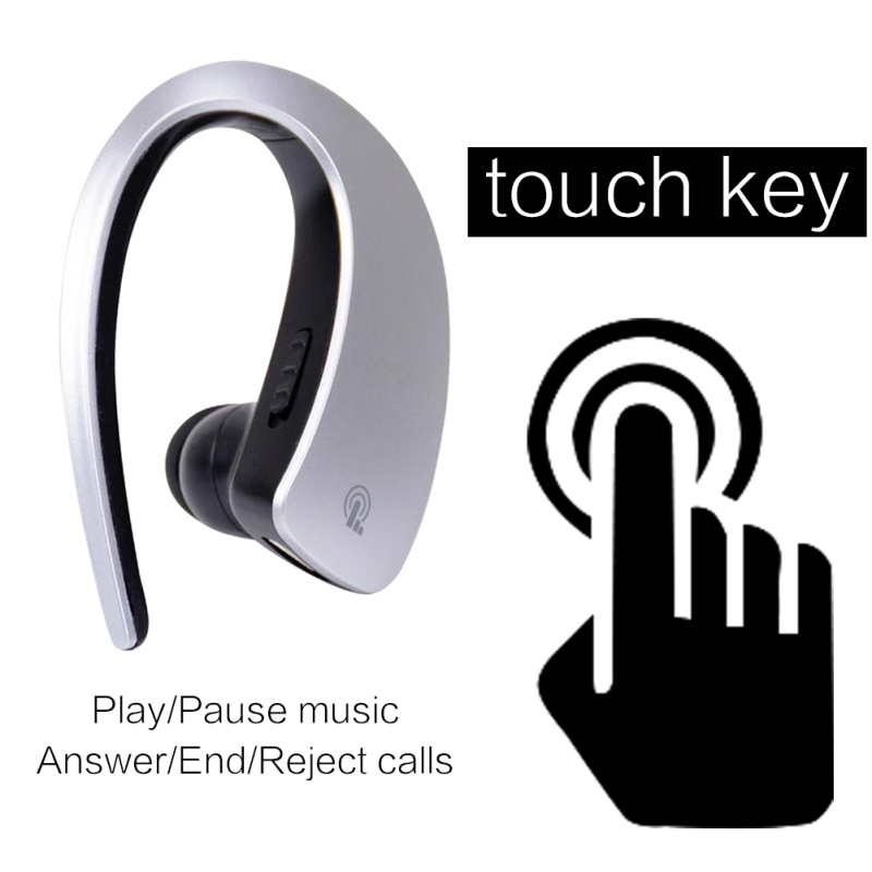 Business Style Voice Control Wireless Handsfree Headset Bluetooth 4.1 Earphone Dual Stand Stereo For Sports Running Music SN23 k10 business bluetooth earphone voice command auto answer wireless business bluetooth headset headphones storage box