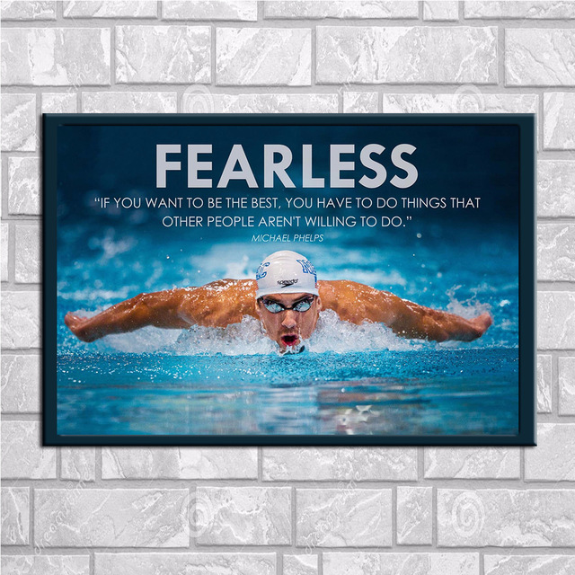 Swimming sports decoration oil painting swimmers Star Poster restaurant wall hanging without frame