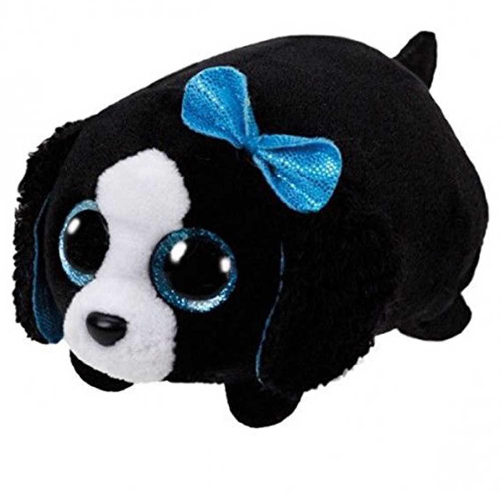 "Ty Pyoopeo Teeny Tys 4 ""10 cm Marci Black/White Dog Empilhável Plush Stuffed Animal Collectible Boneca Macia brinquedo com Tag Coração"