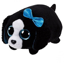 "Ty Pyoopeo Teeny Tys 4 ""10 cm Marci Black/White Dog Empilhável Plush Stuffed Animal Collectible Boneca Macia brinquedo com Tag Coração(China)"