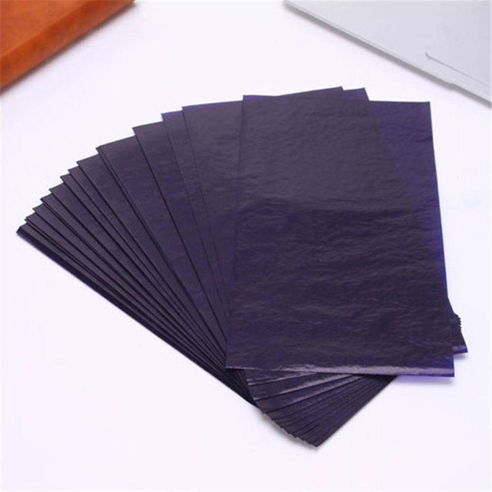 100pcs/box 275 Blue Carbon Stencil Transfer Paper Double Sided Hand Pro Copier Tracing Hectograph Repro 22x11.3cm