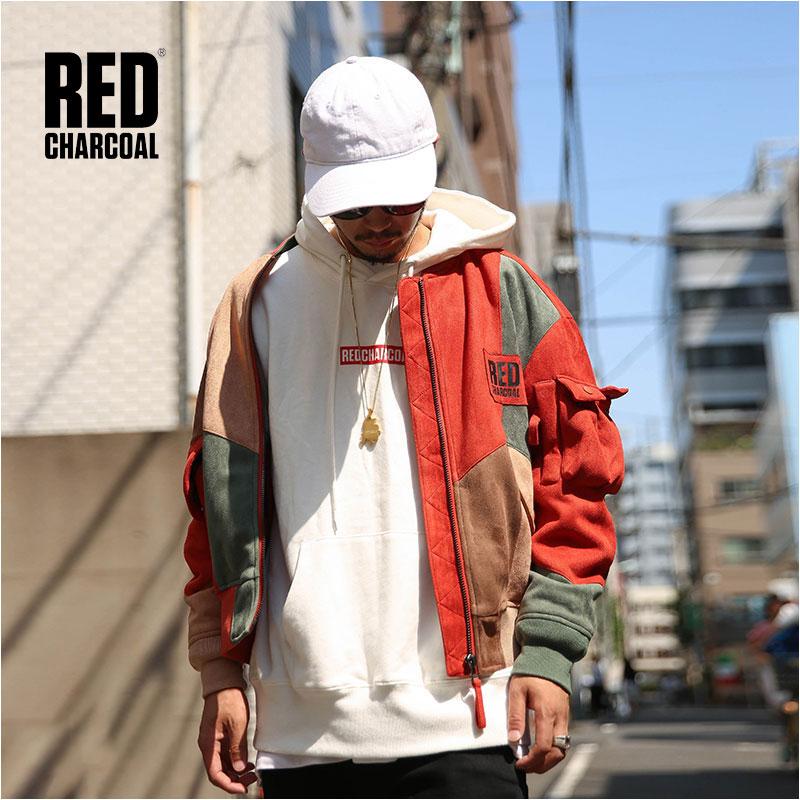 Rosso del Carbone di legna di IADF171 Inverno In Pelle Scamosciata Tessuto di Stile Vintage Multicolore Splicing Breve MA-1 Giacca Mens