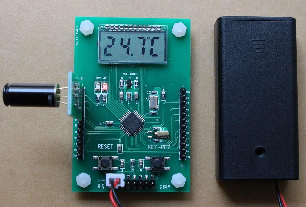 STM8L152 development board, MLX90614 temperature measuring board, MLX90614ESF-DCI infrared probe temperature mtqq networking development board mt7620 mt7688 mt7628 development environment