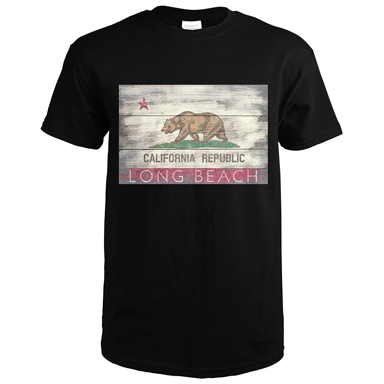 info for 1bb96 d7dae Männer 2019 Sommer Tops Tees Plus Größe T-Shirt Lange Strand, California  Rustikalen California State Flagge (Premium T-Shirt) casual Männer T