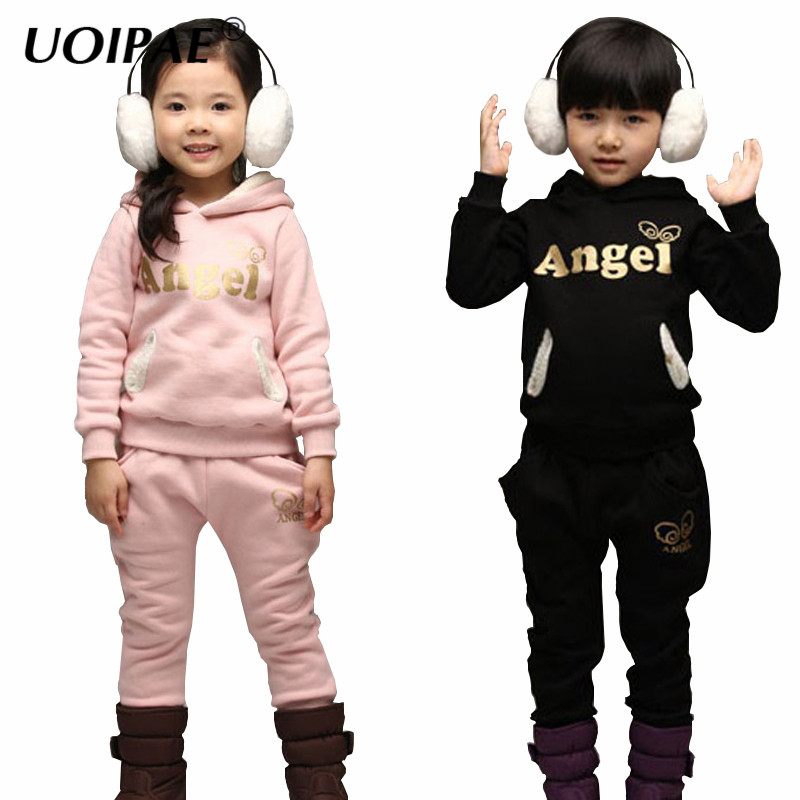 2017 Girls Tracksuit New Autumn Fashion Wings Kids T Shirts Hooded Long Sleeve+Baby Girl Leggings Letter Kids Clothes 4504W tretorn tretorn wings kids 2620841