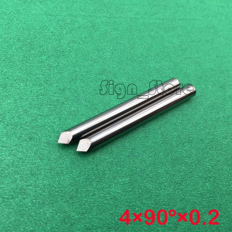 10 pcs 4mm 90 Degree Tool-Tip 0.2MM Three Face CNC Router Bits Carbide Cutters Precision Engraving Tools for CNC Machine 60 angle 4 0 4mm tip sharp three edge cnc router carving tool engraving bits 10pcs carbide cutting machine tools free ship