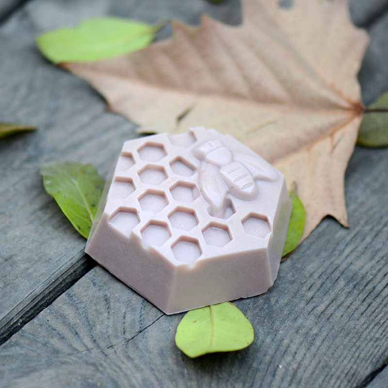 Sllicone Bee Soap Mold Art Kitchen Mould DIY Handmade Making Tools