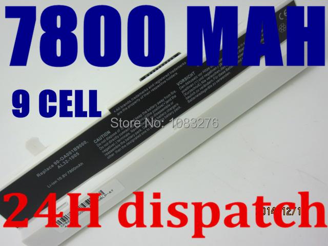 7800 mah batería para asus eee pc 1001ha 1001 1001 p 1005 1005 p x 1005 h 1005ha 1001pq 1001px 1005 p 1005pe 1005pr al31-1005 al32-1005