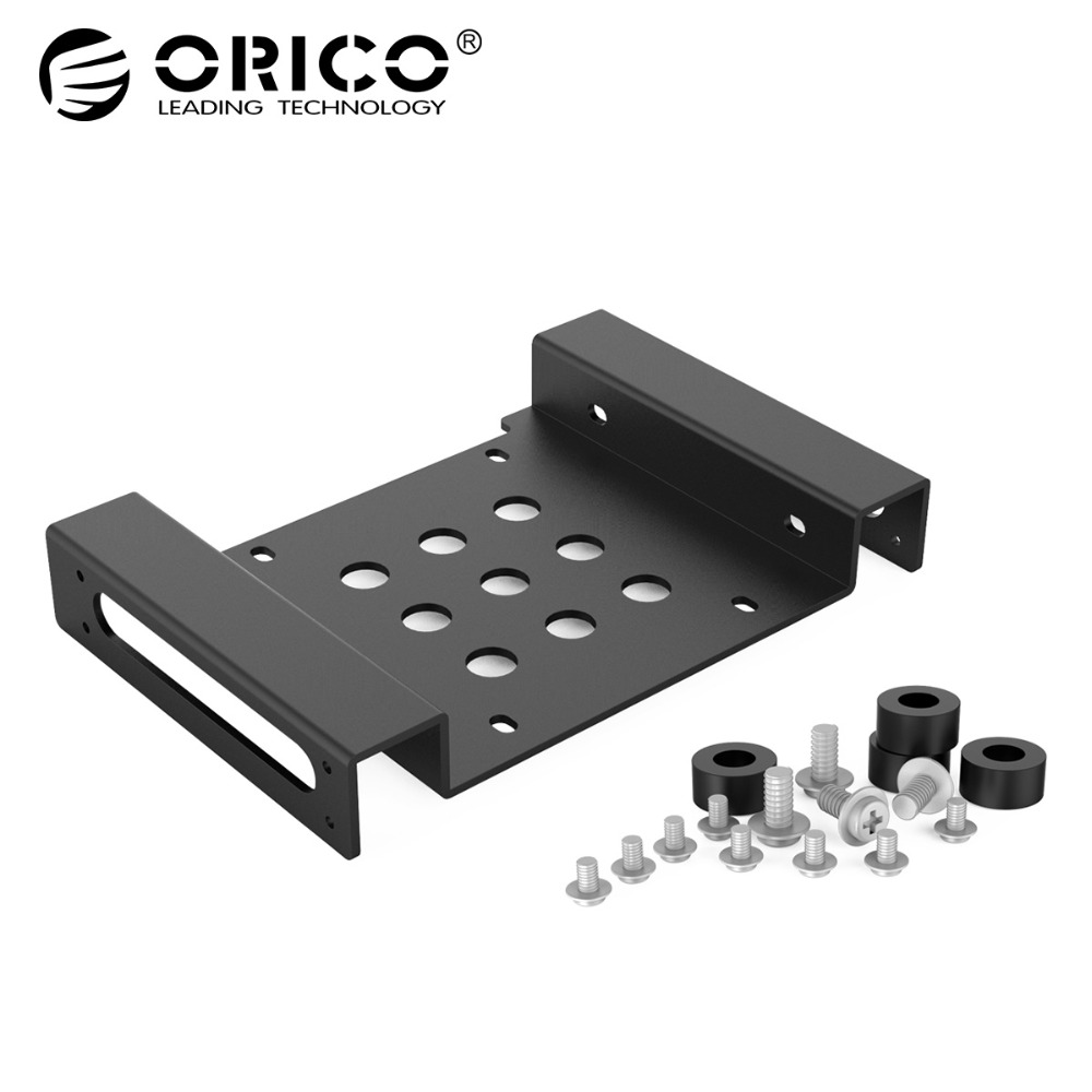 ORICO Aluminum 5.25 inch to 2.5 or 3.5 - inch All- in- 1 Hard Drive HDD SSD Converter Adapter Mounting Bracket( AC52535-1S-BK) 1pc aluminum 4 bay 2 5 in sata hdd ssd to 3 5 in bracket adapter 2 5 in to floppy hard drive disk mounting converter kit