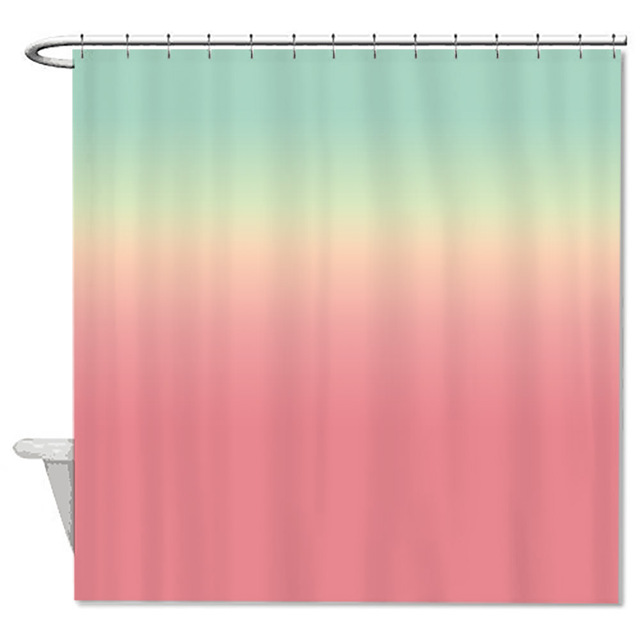 Rainbow Shower Curtains Waterproof Polyester Fabric Bathroom Curtain With Hooks Custom Printed Unique Design Home Decor