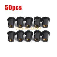 M5 50 Pieces Rubber Grommet Rubber Well Nut Metric Windscreen Nuts For Honda CBR 600 CBR 900 CBR 95 CBR 929 CBR1000