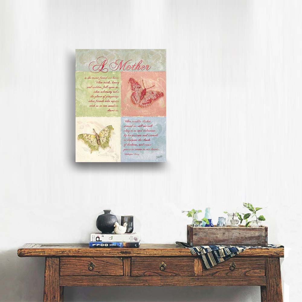 Canvas Wall Art Mother S Day Butterfly Card Painting Quote